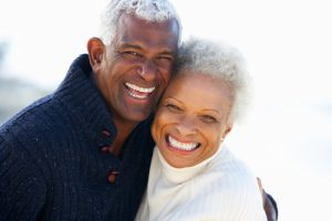 Older smiling couple